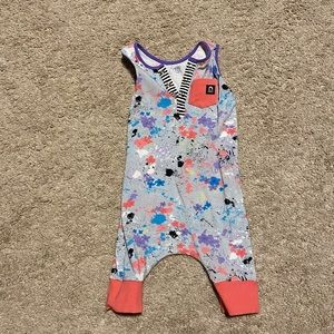 Abstract Floral 18-24 Romper